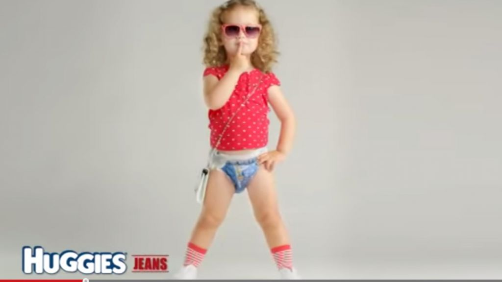 'Sexualized' diaper ad has parents in a tizzy