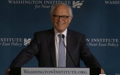 US Middle East envoy Martin Indyk (Screen capture: Washington Institute for Near East Policy)