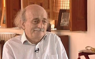 Progressive Socialist Party (PSP) Walid Jumblatt in an interview with the BBC in 2012. (screen capture, YouTube)