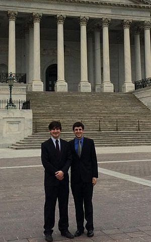Michael (left) and Daniel Bendetson visited Washington, DC this week to urge for passage of their 'moment of silence' bill (photo courtesy: Daniel Bendetson)