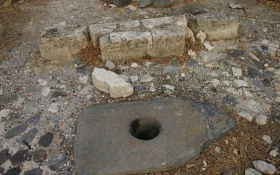 The holy stone at Mount Bereniki (photo credit: Shmuel Bar-Am)