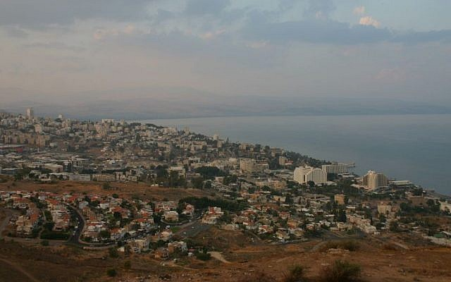 The view from Mount Bereniki of Tiberias and the Sea of Galilee (photo credit: Shmuel Bar-Am)