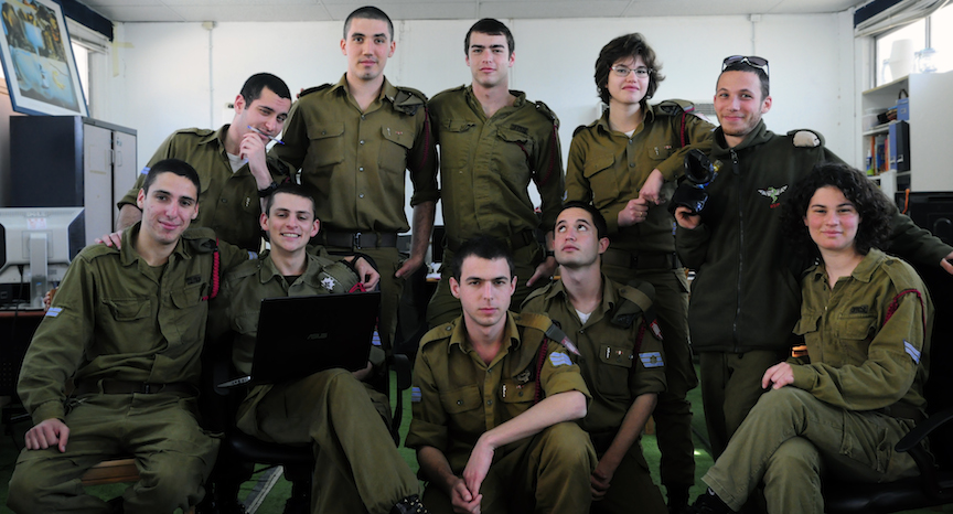 Lt. Eliran Peled (back row, 2nd left) with members of the TILT team (Photo credit: Courtesy)
