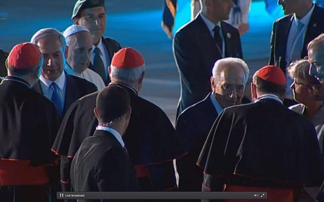 Pope Francis at the airport. (Screen capture: GPO)