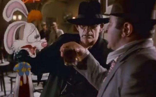 Bob Hoskins in 'Who Framed Roger Rabbit?'. (screen capture, YouTube)