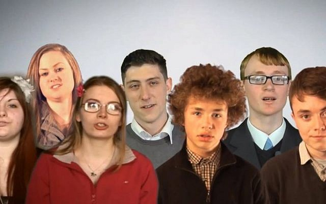 A grim motley crew of British National Party Youth. (YouTube screenshot)