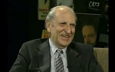 Former New York Times editor Arthur Gelb. (YouTube screenshot)
