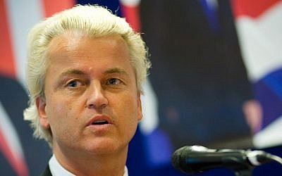 (Dutch right-wing politician Geert Wilders ) via Shutterstock.