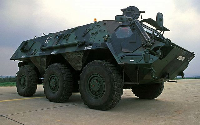 A Rheinmetall armored personnel carrier (photo credit: Wikipedia/Department of Defense)