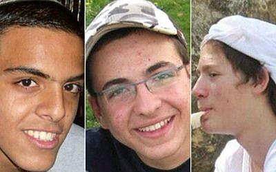 The three kidnapped teens, from left to right: Eyal Yifrach, Gil-ad Shaar and Naftali Frenkel (Photo credit: Courtesy)