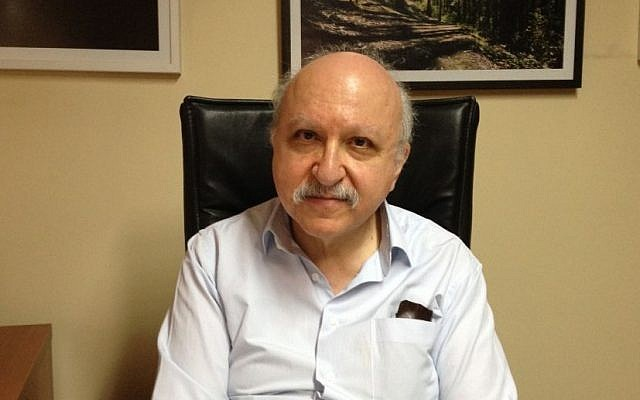 Turkish researcher Rifat Bali at his office in Istanbul [photo credit: Elhanan Miller/Time of Israel staff]