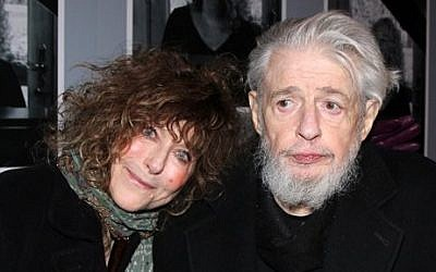 This undated image released by The O and M Company shows lyricist Gerry Goffin with his wife Michelle at the opening night of 'Beautiful: The Carole King Musical,' in New York. (photo credit: AP/The O and M Company, Bruce Glikas)