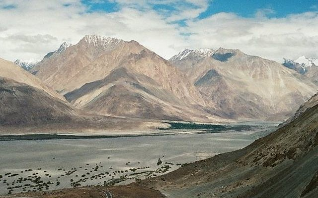 The mountainous region of Ladakh, in the northernmost part of India. (photo credit: Yifa Yaakov/The Times of Israel)