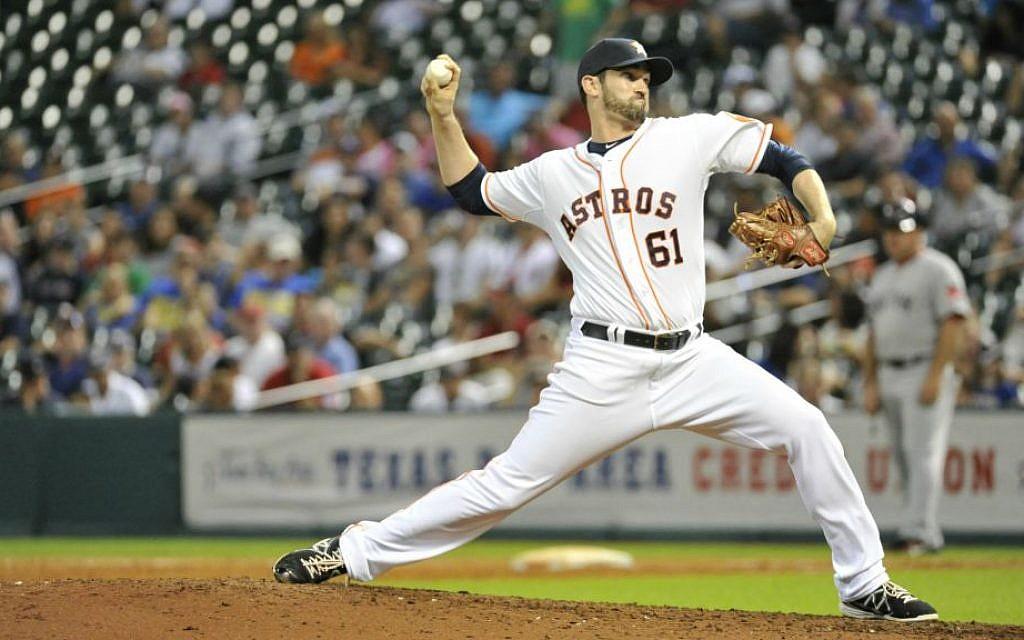 Houston Astros pitcher Josh Zeid says he'd love to go on a 'Baseball Birthright' trip. (Courtesy of Houston Astros)