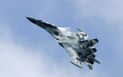 A Russian Su-30 fighterjet performs at the MAKS 2007 Air Show at Zhukovsky airfield outside Moscow, August 26, 2007. (AP/Ivan Sekretarev)