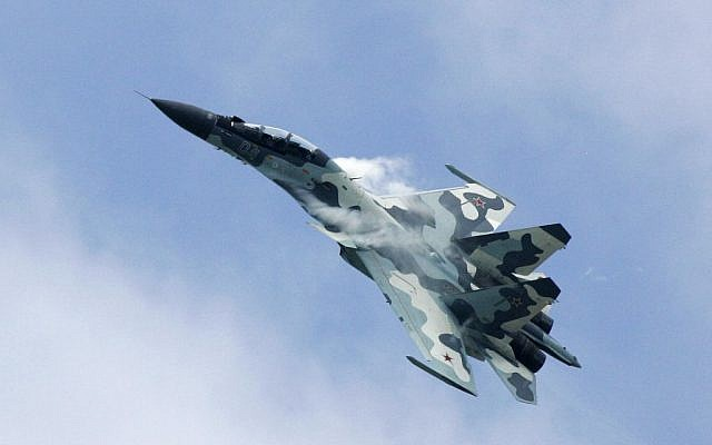 A Russian Su-30 fighterjet performs at the MAKS 2007 Air Show at Zhukovsky airfield outside Moscow, Sunday, August 26, 2007. (AP/Ivan Sekretarev)