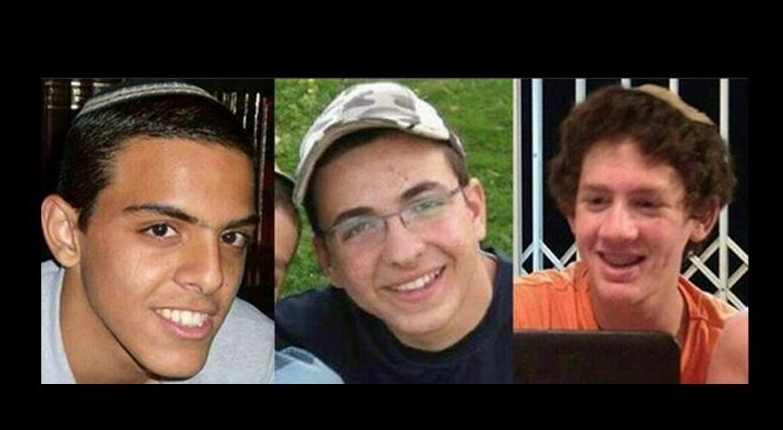 Eyal Yifrach, 19, Gil-ad Shaar, 16, and Naftali Fraenkel, 16, the three Israeli teenagers who were seized on June 12 and whose bodies were found on June 30. (photo credit: IDF/AP)