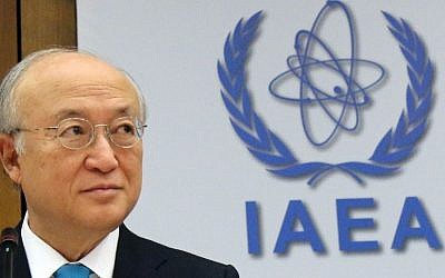 Yukiya Amano of Japan, director general of the International Atomic Energy Agency, in Vienna, Austria, June 2, 2014 (AP/Ronald Zak)