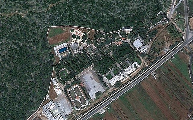 A satellite image of the compound northeast of Masyaf where the Assad regime is reportedly stockpiling chemical weapons. (Google Maps)