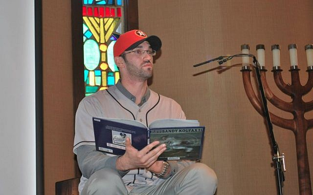 Astros pitcher Josh Zeid read a book about Sandy Koufax to The Shlenker School in Houston this offseason. (Courtesy of Houston Astros)