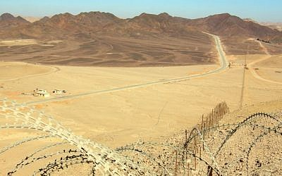 Israel's border with Egypt's Sinai Peninsula (photo credit: public domain/Wilson44691/Wikimedia commons)