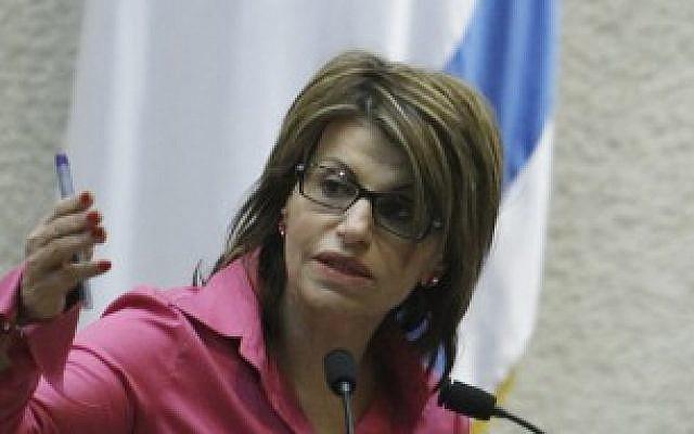 Dalia Itzik addresses the Knesset on July 18, 2011.(photo credit: Miriam Alster/FLASH90)