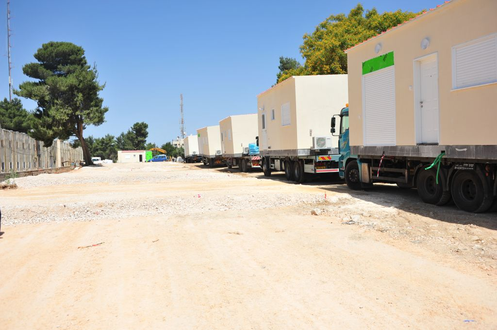 Some Israelis associate RVs or motorhomes with caravans, often used as temporary housing in local settlements (Courtesy Defense Ministry/Flash 90)