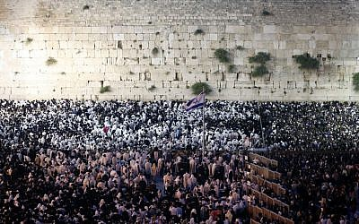 The Western Wall. (photo credit: Sliman Khader/Flash 90)