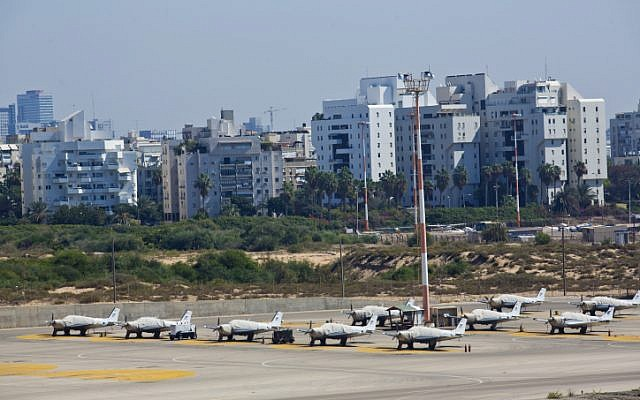 A view of the Sde Dov airport in Tel Aviv, October 11, 2013. (photo credit: Moshe Shai/Flash90)