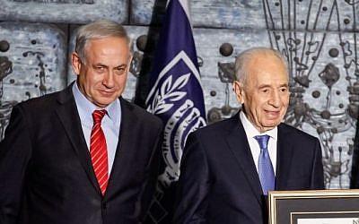Prime Minister Benjamin Netanyahu and President Shimon Peres , file photo (Photo credit: Flash90)