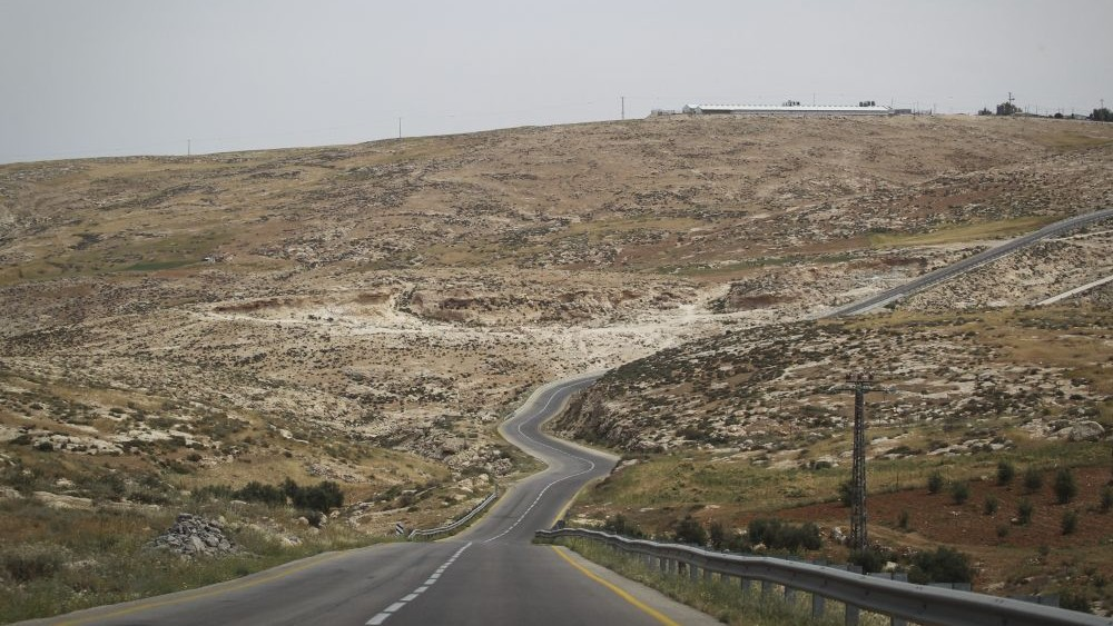 A road passing through the South Hebron Hills in the West Bank. (Hadas Parush/Flash90)