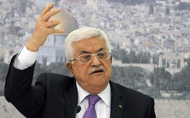 Palestinian Authority President Mahmoud Abbas (photo credit: Issam Rimawi/Flash90)