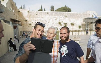 Charlie Watts, drummer for The Rolling Stones, seen visiting the Western Wall in Jerusalem's Old City on Tuesday, June 3, 2014, a day before the band's concert in Tel Aviv. Photo by Yonatan Sindel/Flash 90