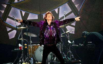 The Rolling Stones frontman, Mick Jagger, on stage during the band's concert in Tel Aviv, Israel, on June 4, 2014. (Photo credit: Flash 90)