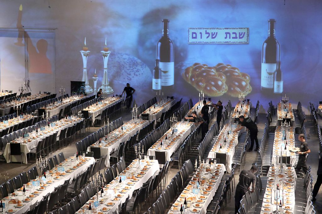 Image result for shabbat dinner chabad
