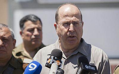 Defense Minister Moshe Ya'alon, June 14, 2014. (Photo credit: Yonatan Sindel/Flash90)