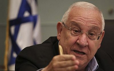 President-elect Reuven Rivlin speaks during the Finance Committee meeting during which members of Knesset bid him farewell as a Knesset member, on June 23, 2014. (Photo credit: Hadas Parush/Flash90)