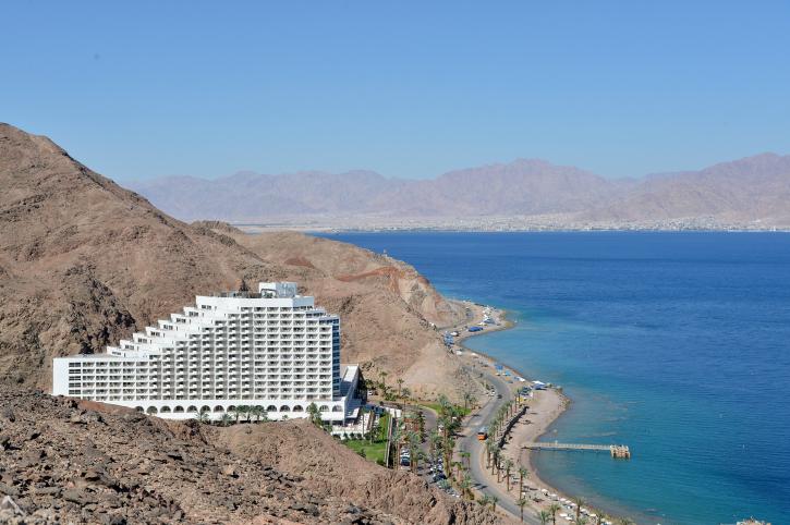 Illustrative photo of an Eilat hotel, June 1, 2014. (photo credit: Yossi Zeliger/Flash 90)