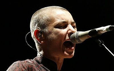 Sinead O'Connor during a live performance in 2013 (photo credit: Wikimedia Commons, CC BY-SA 3.0, Pymouss)