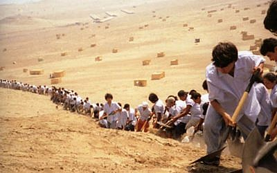 Francis Alÿs: When Faith Moves Mountains, 2002.  (Courtesy Francis Alÿs and David Zwirner, New York)