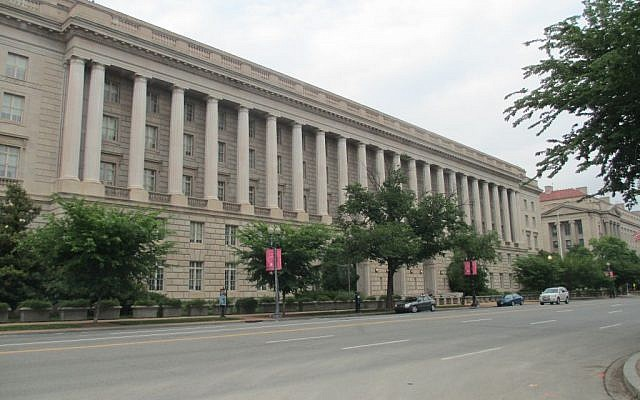 The Internal Revenue Service building in Washington DC (photo credit: CC BY-SA Joshua Doubek, Wikimedia Commons)