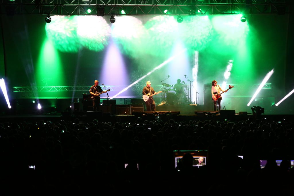 The Pixies on stage at Tel Aviv's Bloomfield Stadium (photo credit: Orit Pnini)