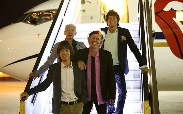 The Rolling Stones arrive in Israel, Monday June 2, 2014. (Photo credit: Orit Pnini)