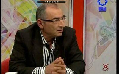 Sadegh Zibakalam, a professor at the University of Tehran (photo credit: YouTube screen cap)
