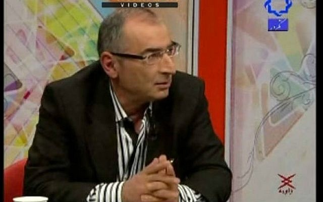 Sadegh Zibakalam, a professor at the University of Tehran (photo credit: YouTube screen cap)