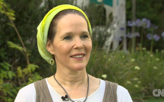 Rachelle Fraenkel, mother of one of the kidnapped Israeli teens, speaks to CNN. (screen capture: CNN)
