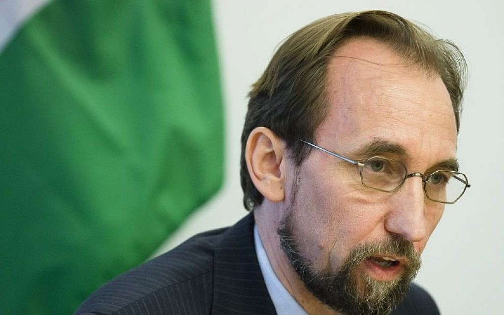 Jordan's ambassador to the United Nationas, Prince Zeid al-Hussein, speaks to the media during a news conference in New York. (AP Photo/John Minchillo, File)