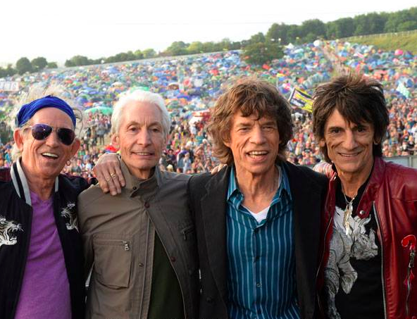 The Rolling Stones in Oslo, their first concert since the suicide of Mick Jagger's girlfriend, L'Wren Scott (Courtesy The Rolling Stones Facebook page)