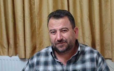 Hamas operative Saleh al-Aruri (photo credit: Youtube screenshot)