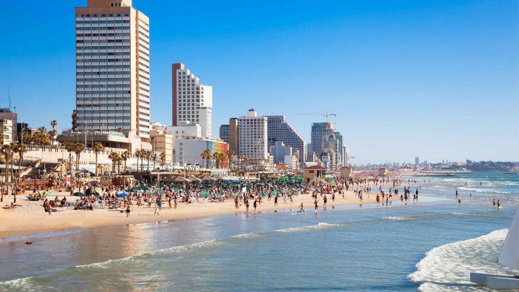 Tel Aviv beach Tel Aviv beachvia Shutterstock.